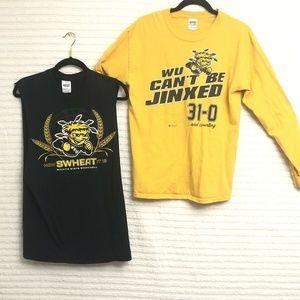 Wichita State T Shirt Lot Long Sleeve Muscle T